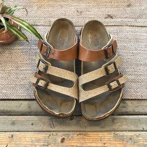Papillon Birkenstock 3 strap sandals size 38/ 7